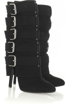 Balmain Buckle-embellished suede boots