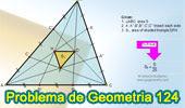 Problema de Geometría 124. Triangulo, Cevianas, Trisección de los lados, 1/25, Área..