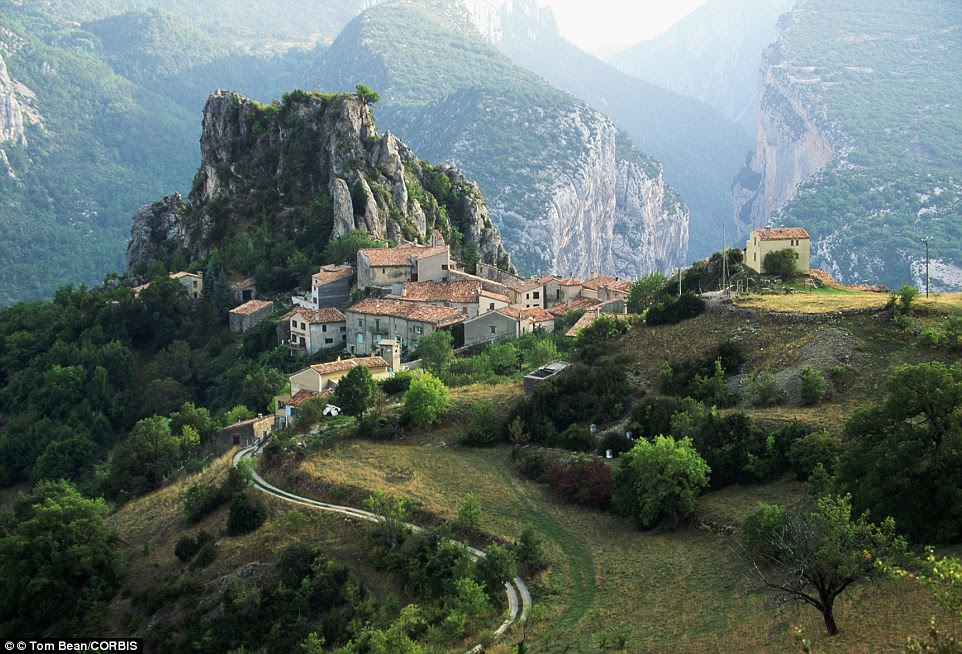 Gorge-ous views! Tiny hilltop village, Rougon, boasts panoramic views of the surrounding Verdon Gorge in the south of       France