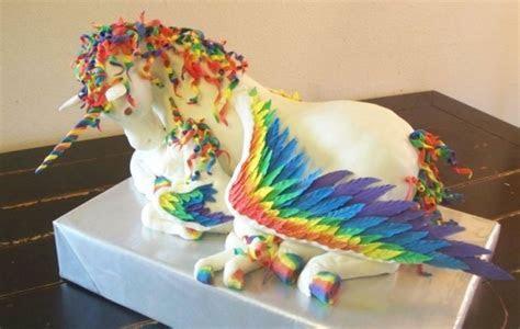 Rainbow Unicorn Pegasus Cake   The Mary Sue