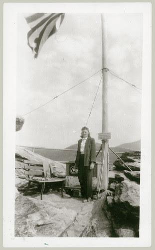 Woman at Chimney Rock