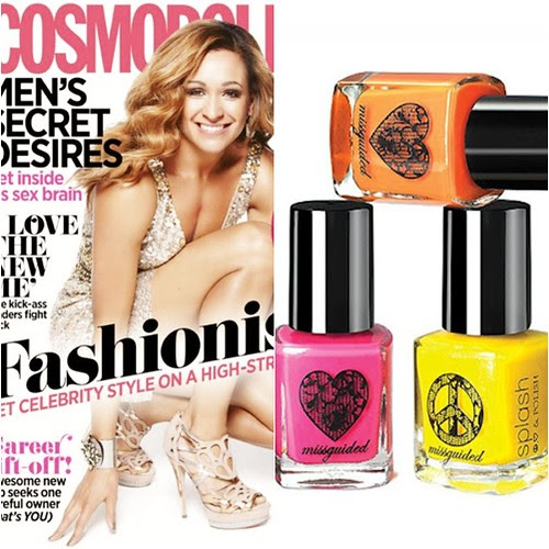 Cosmo mag UK july august miss guided nail polish freebie