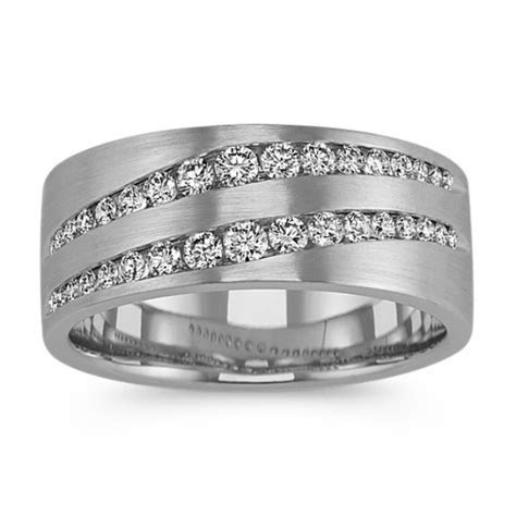 Diamond & Ruby Mens Wedding Bands   Shane Co.