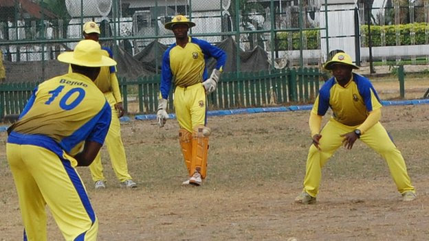 Ibeju Lekki Cricket Club players in Lagos, Nigeria