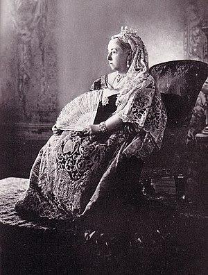 Queen Victoria wearing the Diamond Collet Neck...