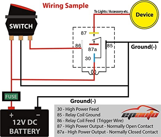 12v Normally Closed Relay Wiring Diagram