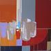 Cinco vasos( serie gran bazar) 55 x 55. técnica mixta, collage