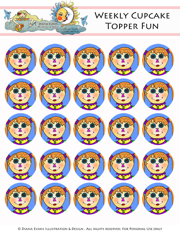 Rag Doll Cupcake Toppers- blog