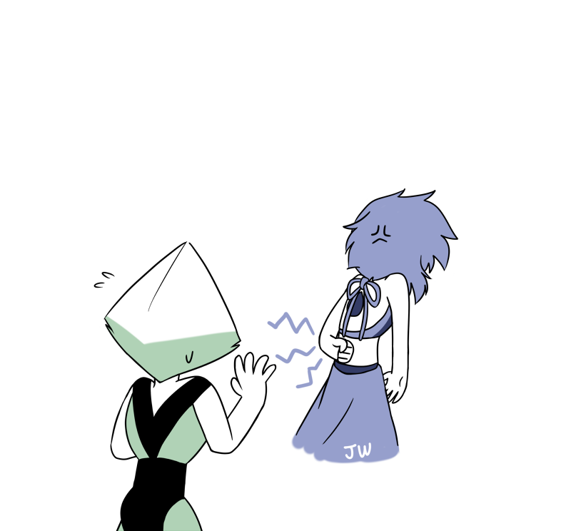 Shall we dance? Drawing them dancing again. Seeing Lapis teases Peridot always amuses me haha. I hope their fuse dance will be like Pearl and Garnet's or Steven and Connie's… or even like Pearl and...