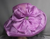 Spectacular Lavender Church Crown Race Day Wedding Hat