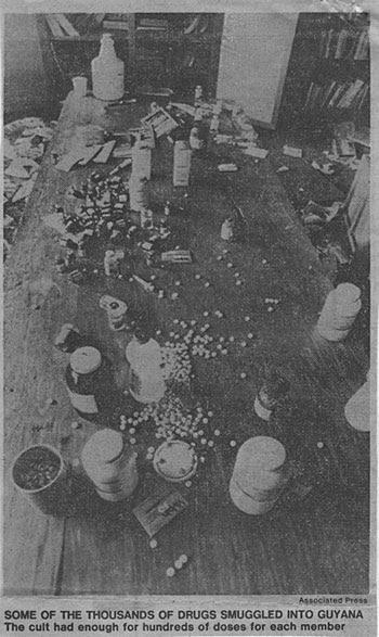 Image result for jim jones drugs jonestown