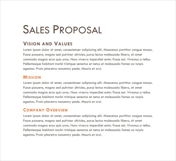 Sales Proposal Final Template