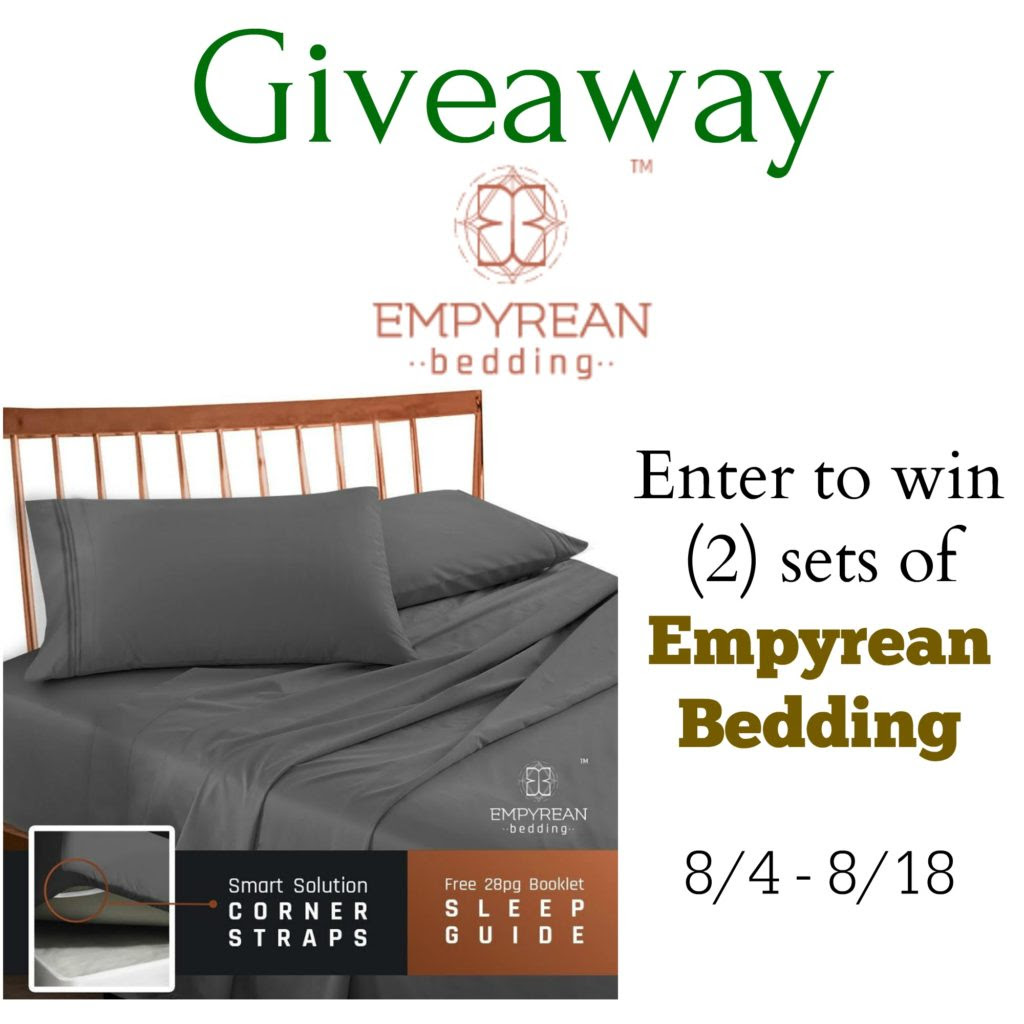 Enter the Empyrean Bedding Giveaway. Ends 8/18
