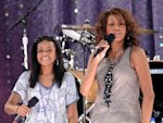 FILE - In this Sept. 1, 2009 file photo, singer Whitney Houston, right, sings with her daughter Bobbi Kristina Brown during a performance on 'Good Morning America' in Central Park in New York ...