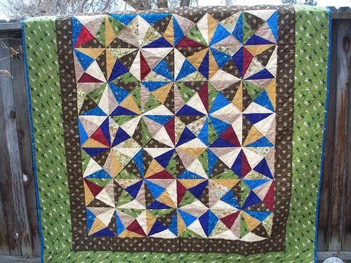 finished crackle quilt