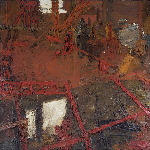 Rebuilding the Empire Cinema, Leicester Square by Frank Auerbach, 1962