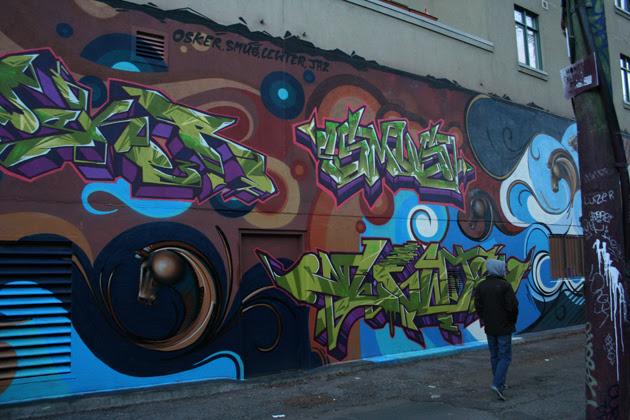 city street alley. Queen Street West alleys.