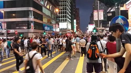 彌敦道・亜皆老街交差点