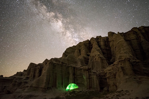Red Rock Canyon State Park camping under the stars