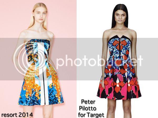 Peter Pilotto printed strapless dress