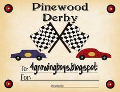 Get Best Pinewood Derby Certificate Template -123Certificate ...