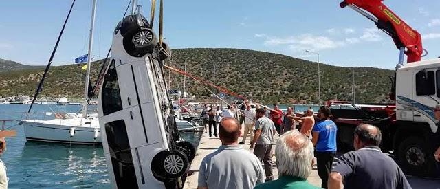 Αυτοκίνητο έπεσε στο λιμάνι της Ερμιόνης στην Αργολίδα (Βίντεο)