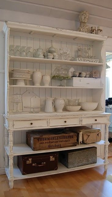 Kitchen storage...i do not have a space big enough in my kitchen for this but I do have space in the laundry room. really like this cabinet/shelf