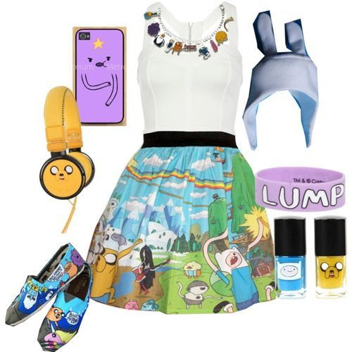 Adventure time (girls,dress,girl,fashion,style,clothes,polyvore,our picks)