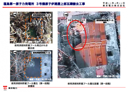 Debris stopping SFP of reactor3 from fully covered