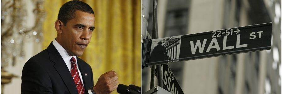 Risultati immagini per obama wall street