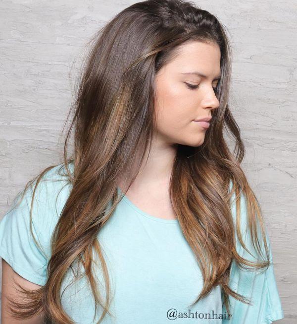 Braune Haare Mit Karamell Strähnen Allefrisurende
