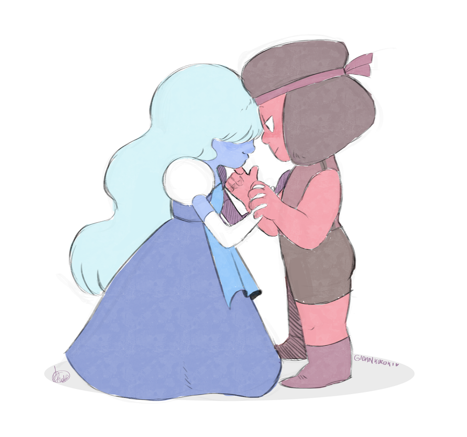 I'm starting to ship this- Yeah,I know that's a canon ship, but... I don't know, I didn't care too much about them. ... But wow, I'm starting to ship them so hard. Ruby and Sapphire (Steven Univers...
