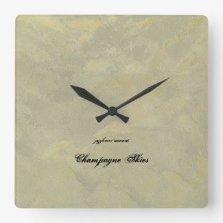Champagne Skies Wall Clocks
