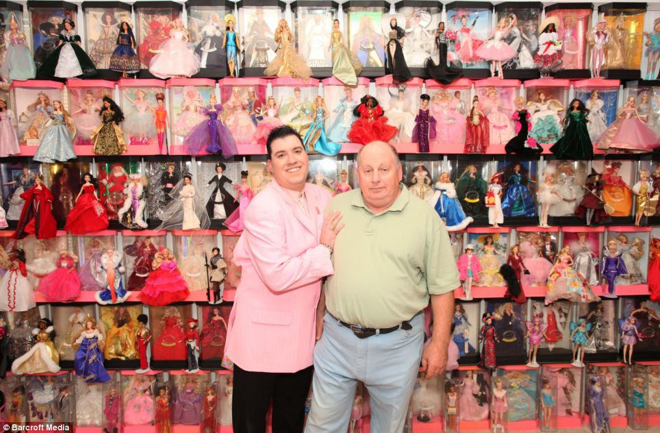 Stanley Colorite and Dennis Schlicker attend Barbie conventions together across the United States