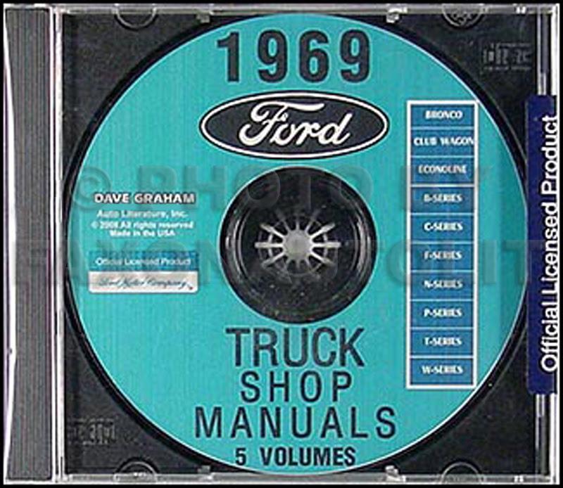 1969 Ford F100 F250 F350 Pickup Truck Owner's Manual Reprint