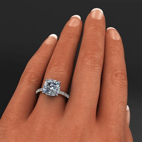 sage ring ? 4.2 carat cushion cut NEO moissanite and