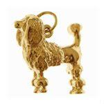 Poodle Dog 14k Gold Charm