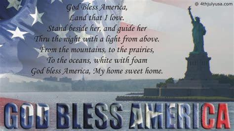 god bless america patriotic song lyrics video mp