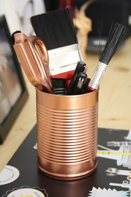 STYLE, SPACE & STUFF: DIY- Copper tins and Scissors a simple way to add copper to your interior decor,