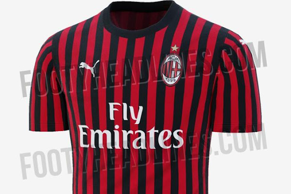 5c56ae3ed0b AC Milan news  The Rossoneri s 2019 20 home kit leaked. The 2018 19 ...