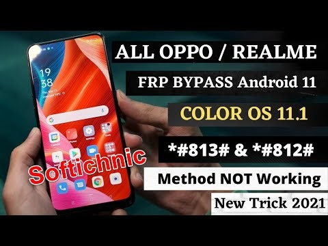 All OPPO/REALME ColorOS 11.1 - Android 11 FRP/Google Lock Bypass - *#813# FRP CODE NOT WORKING