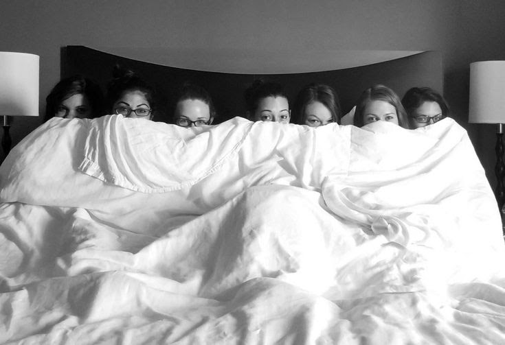 Wedding morning! Adorable bridal party photo!!