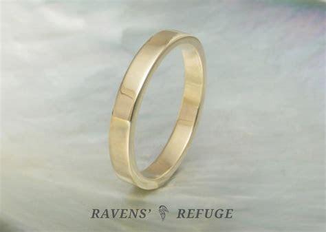 flat wedding band ? simple gold wedding ring   Ravens' Refuge