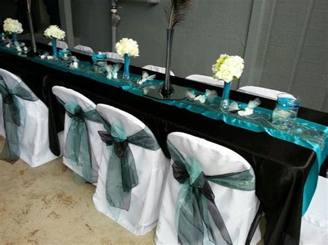Turquoise and black wedding   wedding Ideas   Pinterest