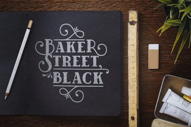 BakerStreet Black Font by kimmydesign