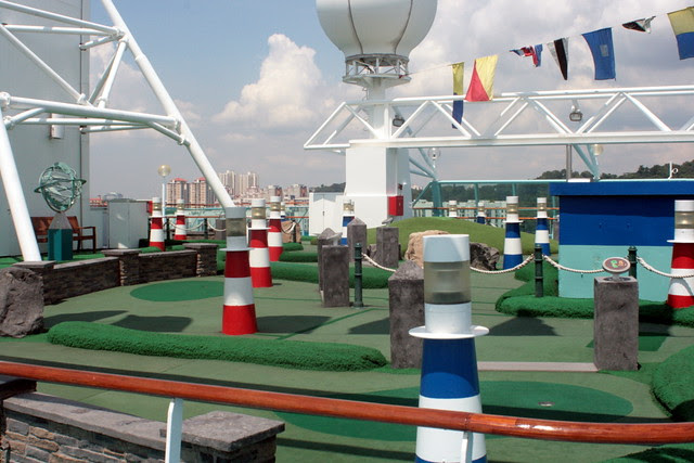 The mini golf course