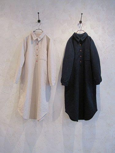thick textured cotton shirt dress