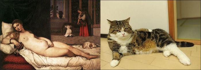 кошки в живописи 12 (700x243, 75Kb)