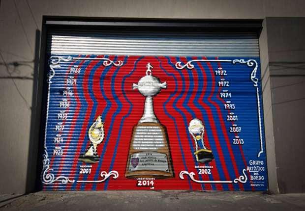 La Copa Libertadores Ya Es Un Mural En Boedo Goal Com