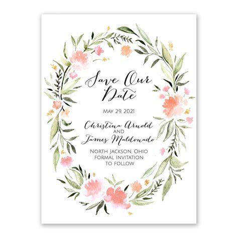 Bohemian Floral Save the Date   Ann's Bridal Bargains